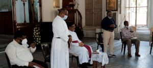 Prayer by the Diocesan Secretary Rev. Paul Dhanasekaran.